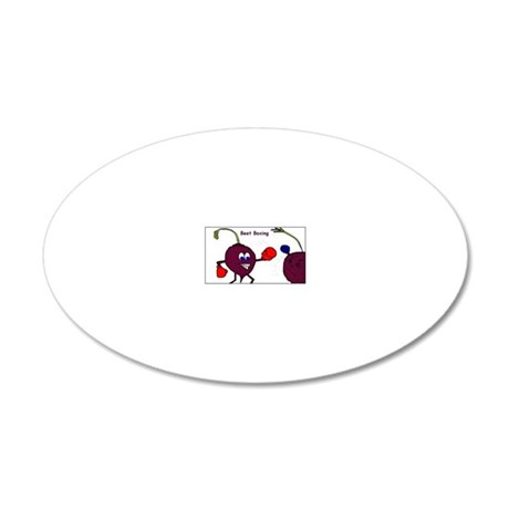 beet boxing 20x12 Oval Wall Decal