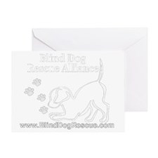 ProjectBWLogo3WHITE Greeting Card