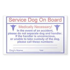 Service Dog On Board sticker