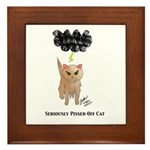 Seriously Pissed Off Cat Framed Tile