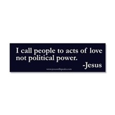 political power Car Magnet 10 x 3