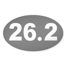 Black 26.2 Oval Decal