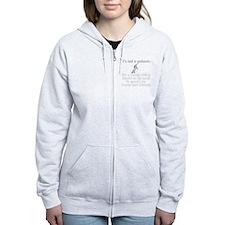 notaunicornwh Women's Zip Hoodie