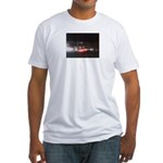 Fast Car Lights Fitted T-Shirt