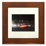 Fast Car Lights Framed Tile