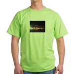 Fast Car Lights Green T-Shirt
