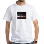 Fast Car Lights White T-Shirt