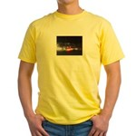 Fast Car Lights Yellow T-Shirt
