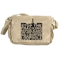 StopFrackingRev_200 Messenger Bag