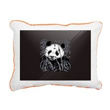 PatchGrey Tone Panda Rectangular Canvas Pillow
