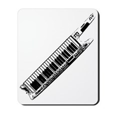 Keytar black Mousepad