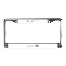 Unique Forward License Plate Frame