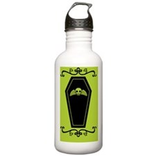 coffin_green_12x18v Water Bottle