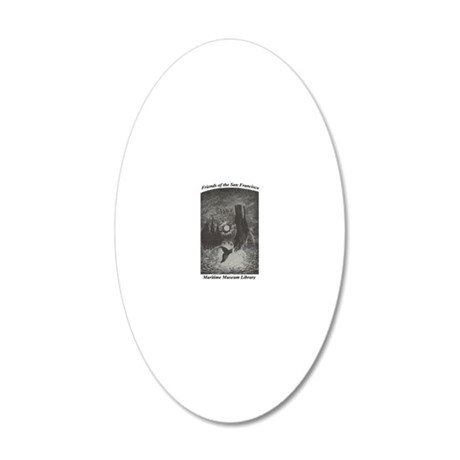 bj bookplate_for Cafepress c 20x12 Oval Wall Decal