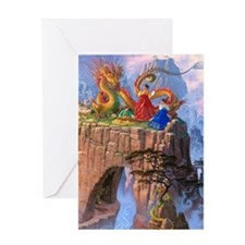 Dragon Serenade Greeting Card