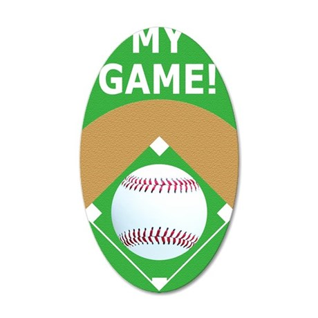 Baseball Itouch2 iPod Hard C 35x21 Oval Wall Decal