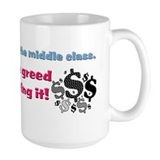 corporate greed Mug