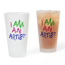 I am an artist light Drinking Glass