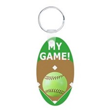 Softball Itouch2 iPod Hard  Keychains