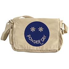 powder day face Messenger Bag