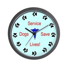 Service Dogs Save Lives! Wall Clock