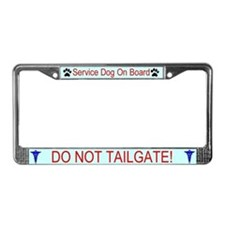 Service Dog On Board License Plate Frame