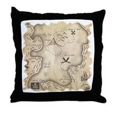 MAPirateSQ Throw Pillow