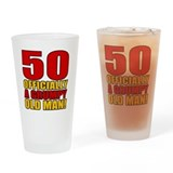 50th birthday man Pint Glasses