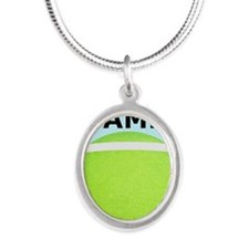 Tennis iPhone 4 Slider Case,  Silver Oval Necklace