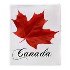 O-Canada-MapleLeaf-Ottawa-4-blackLet Throw Blanket