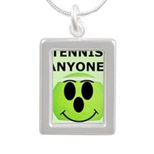 Tennis iPhone 4 Slider C Silver Portrait Necklace