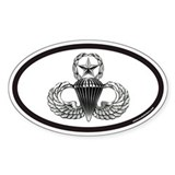Jump Master Wings Oval Decal