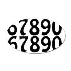 racing-numbers--6-0-twice 35x21 Oval Wall Decal