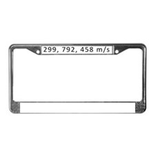 Speed of light License Plate Frame