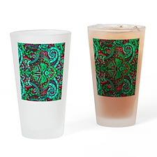 Neon Funk Drinking Glass