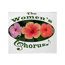 Womens Chorus Triple Hibiscus Logo3G Throw Blanket
