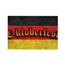 Oktoberfest German Deutsch Flag F Rectangle Magnet