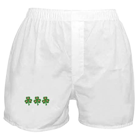 Three Shamrocks Pink Heart Boxer Shorts