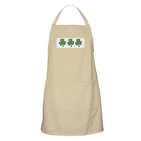 Three Shamrocks Pink Heart BBQ Apron