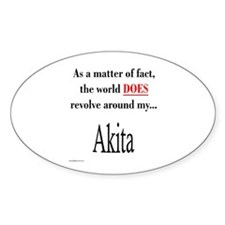 Akita World Oval Decal