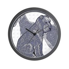 begin kerry blue terrier4 Wall Clock