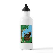 Bear in tub-Honey Water Bottle