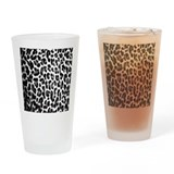 Leopard print Pint Glasses
