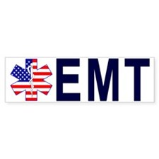 HAT US FLAG STAR EMT Bumper Sticker