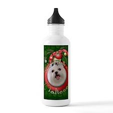 DeckHallsMalteses Water Bottle