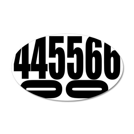 SCCA-0-4-6-DOUBLES 35x21 Oval Wall Decal