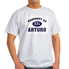 Property of arturo Ash Grey T-Shirt