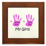 Alicia's Girls Framed Tile