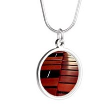 Marimba Silver Round Necklace