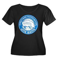 Pig Blac Women's Plus Size Dark Scoop Neck T-Shirt